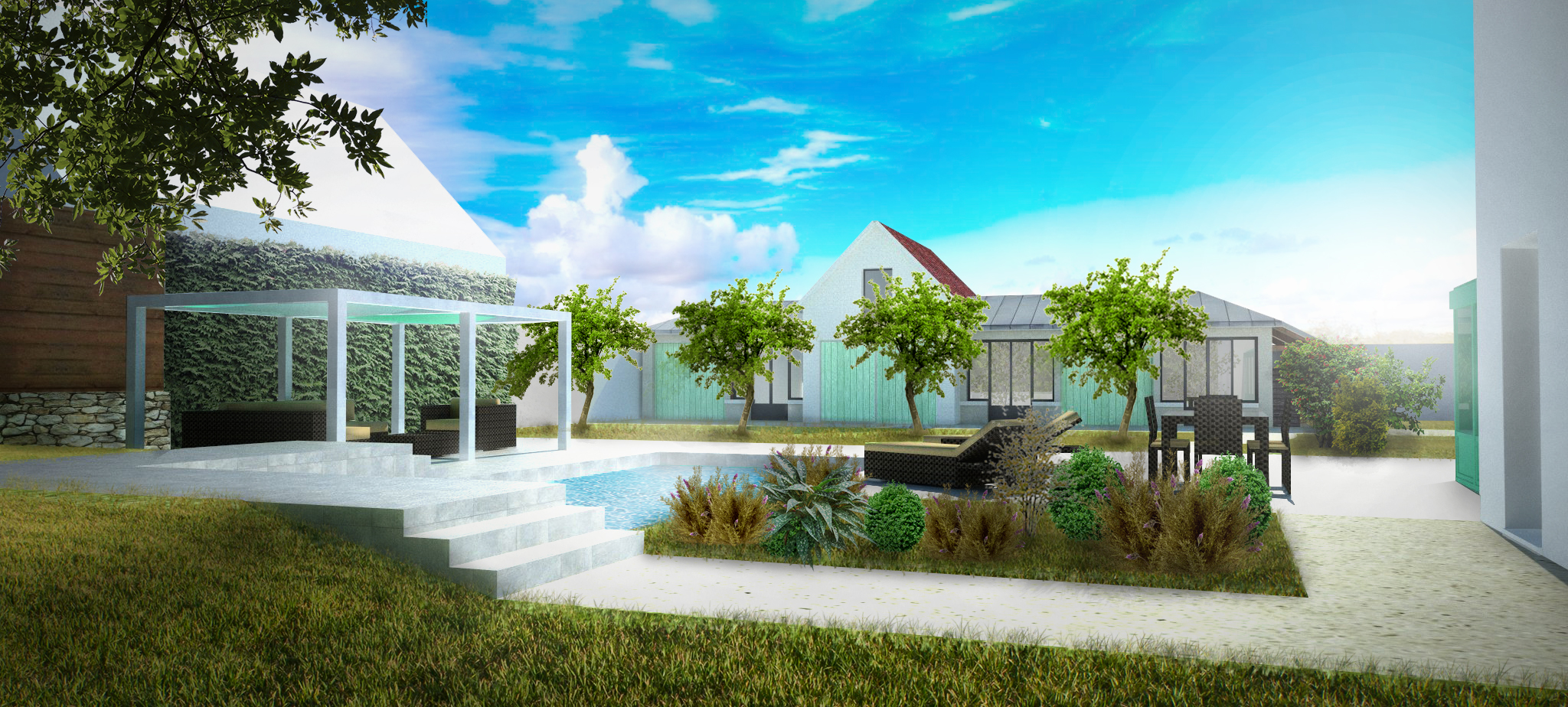Mf architecture michel figea architecte for Jardin grisy les platres